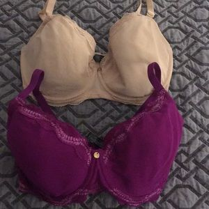 Natori 32 H nude and fuchsia very good condition
